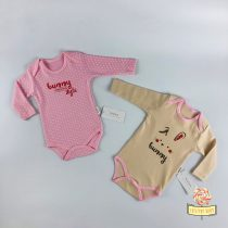 Set 2 bodića za bebe MiniFace - Bunny