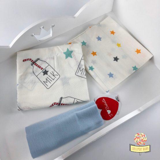 Flanelne Bebetto pelene za dečake – Milk