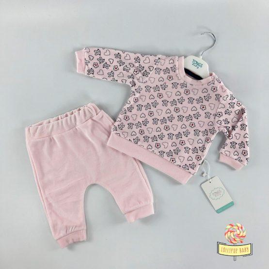 Plišana pidžamica Tongs Baby – roze boja
