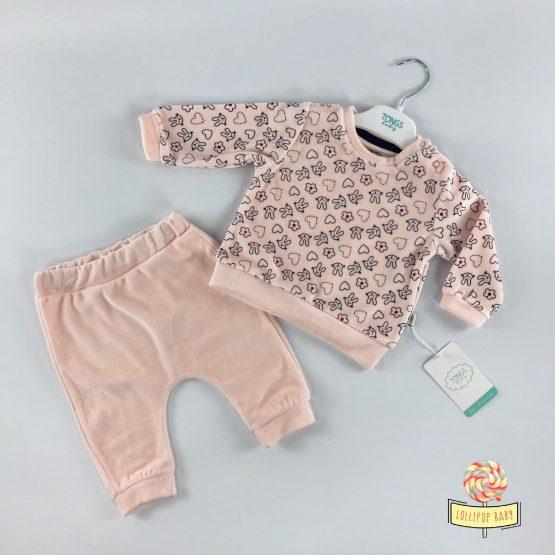 Plišana pidžamica Tongs Baby – boja kajsije