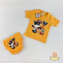 Komplet majica i gaćice za odvikavanje od pelena, u dezenu žuti meda.