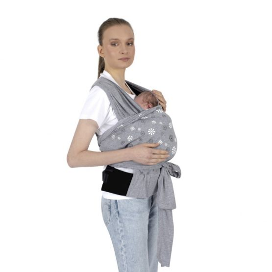 Kengur (sling) marama za bebe – siva