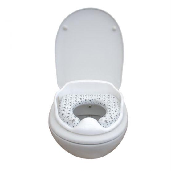 Anatomski adapter za WC sa naslonom - sivi