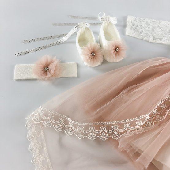 Svečani set sa dugom haljinom za bebe devojčice