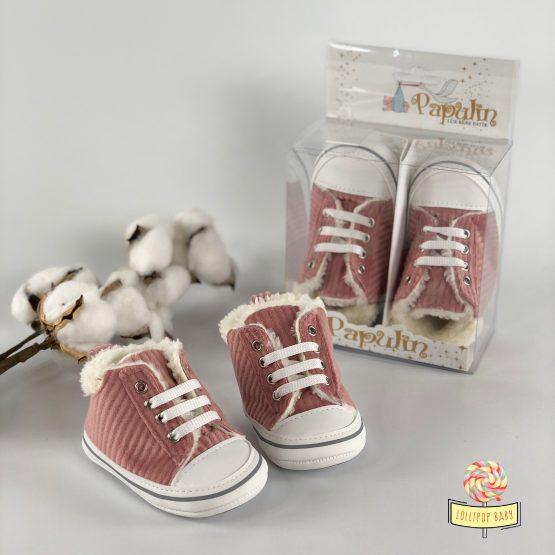 Futrovane patike za bebe devojčice
