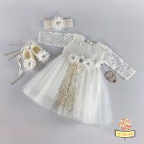 Svečani set za bebe devojčice - beli