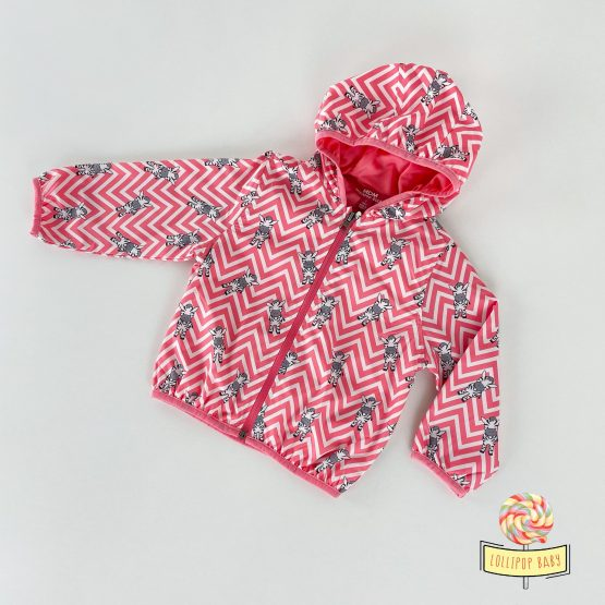 """Šuškava prolećna jaknica za devojčice """"Zebra"""""""