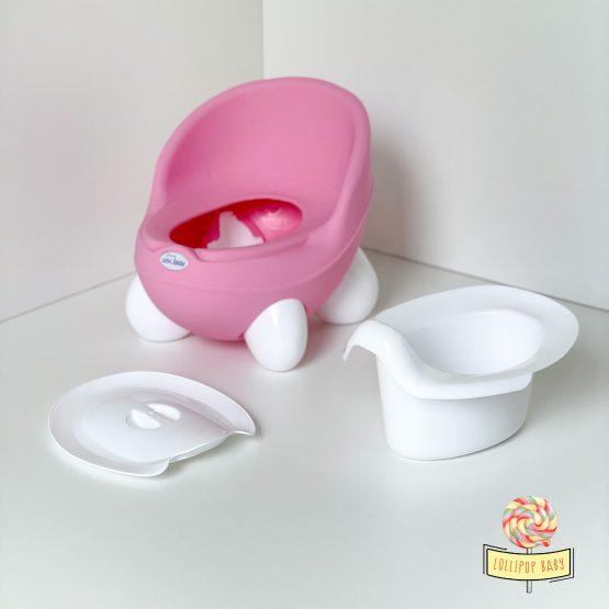 Noša za devojčice sa naslonom - roze