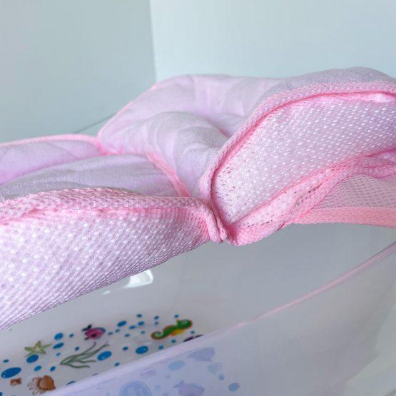 Roze krevetić podloga za kupanje bebe