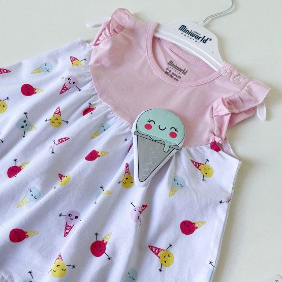"""Letnja haljinica za bebe MiniWorld """"IceCream"""""""