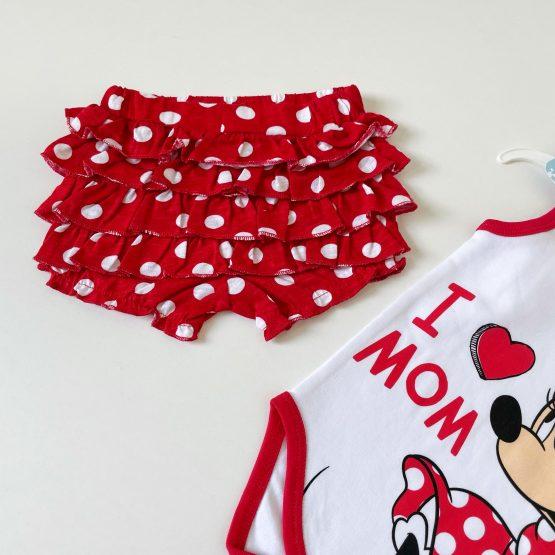 "Letnji kompletić Minnie ""I love Mom"""