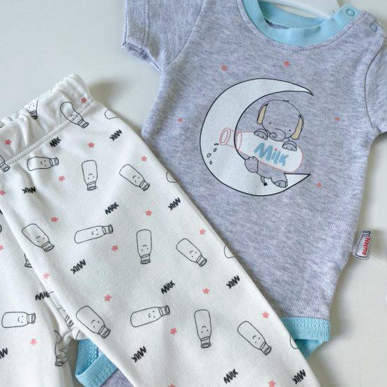"""Letnja pidžamica za bebe Bebetto """"Milk"""""""