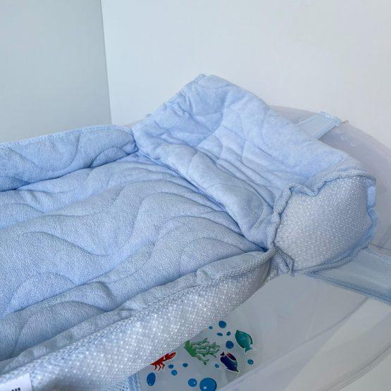 Plava krevetić podloga za kupanje bebe