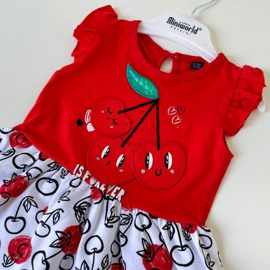 """Letnja haljinica za bebe MiniWorld """"Cherry"""""""