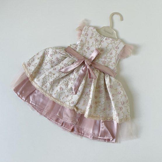 Roze svečana haljinica za bebe Cassiope