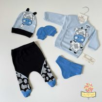 "Set za novorođenče Minizeyn ""Plava kravica"""