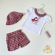 """Crveni komplet za bebe sa šeširićem """"Patkica"""""""