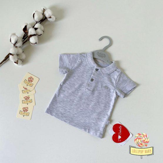 Siva majica sa kragnicom Bebetto