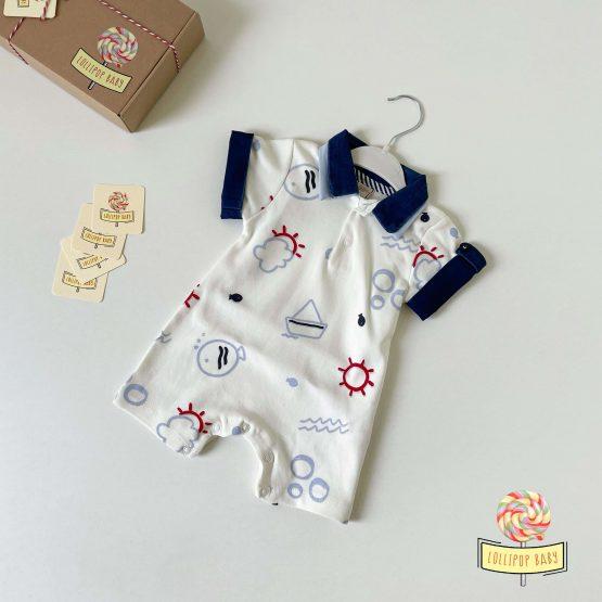 Mornarski letnji zeka za bebe (teget)
