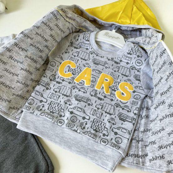 """Kompletić sa šuškavim prslukom """"Cars"""" (žuti)"""
