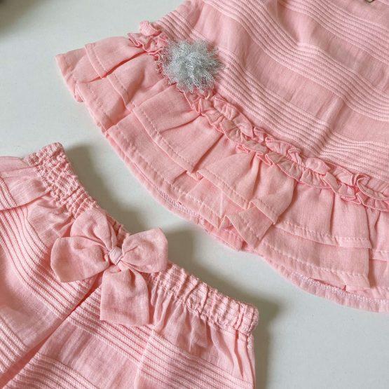 Letnji kompletić za bebe devojčice Caramell