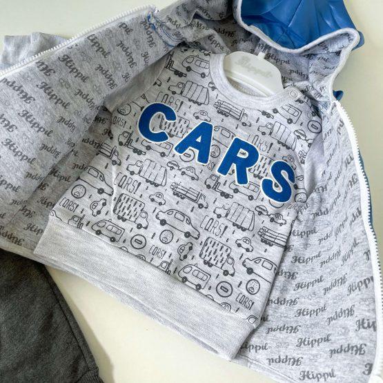 """Kompletić sa šuškavim prslukom """"Cars"""" (plavi)"""