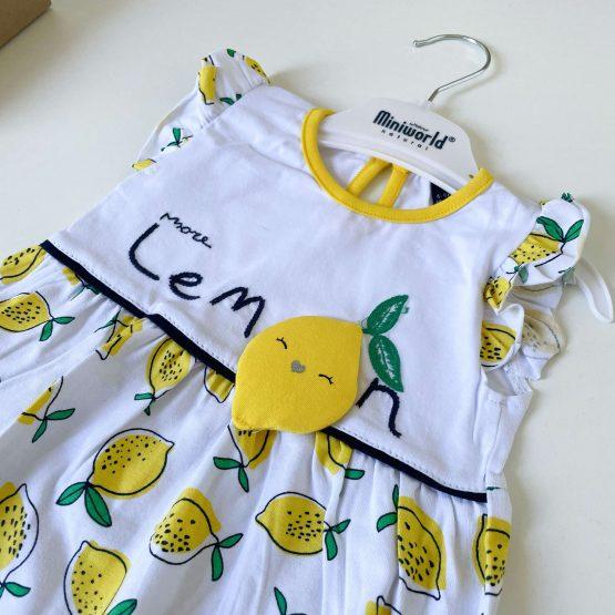 "Letnja haljinica za bebe MiniWorld ""Lemon"""