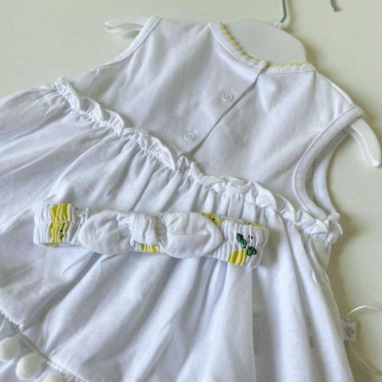"""Pamučna haljinica i traka Caramell """"Lemon"""""""