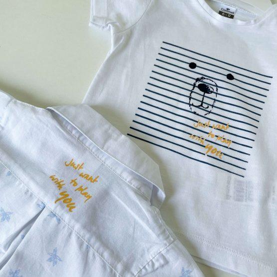 """Kompletić sa košuljom za bebe Caramell """"Meda"""""""