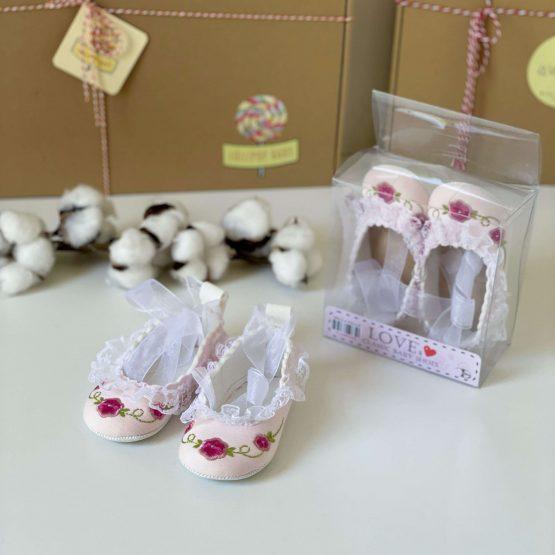 Nehodajuće cvetne baletanke za bebe devojčice