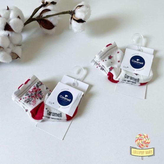 Čarapice za bebe 0-6m 2pcs Caramell