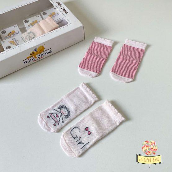 Čarapice za bebe devojčice 12-18m 2pcs MiniDamla