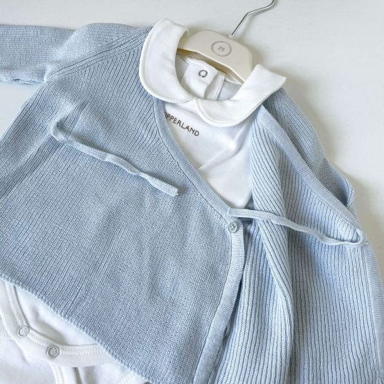 Knit komplet sa džemperićem NipperLand (plavi)