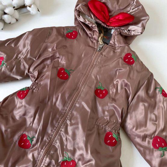 """Zimska jakna za devojčice Cumino """"Jagodice"""""""