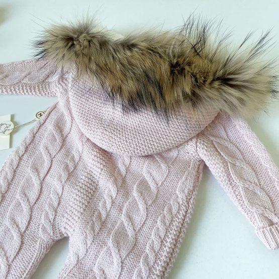 Skafander od merino vune NipperLand (roze)