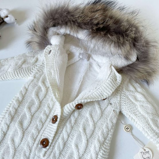Skafander od merino vune NipperLand (beli)