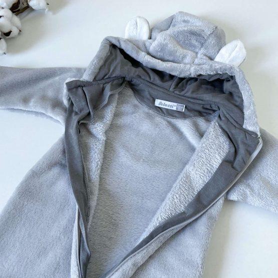 Plišana vreća za spavanje Bebessi (siva)