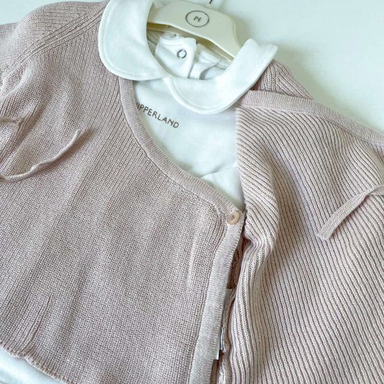 Knit komplet sa džemperićem NipperLand (roze)
