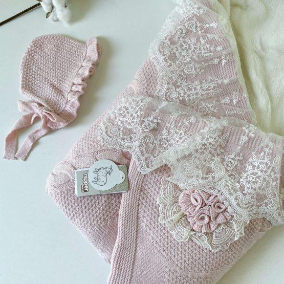 Vunena dunjica za bebe NipperLand (roze)