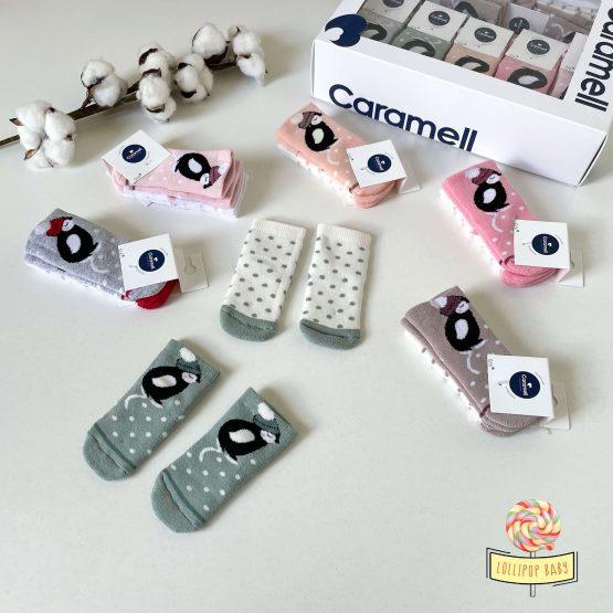 "Termo čarapice dvopak Caramell ""Pingvin"" (0-6m)"