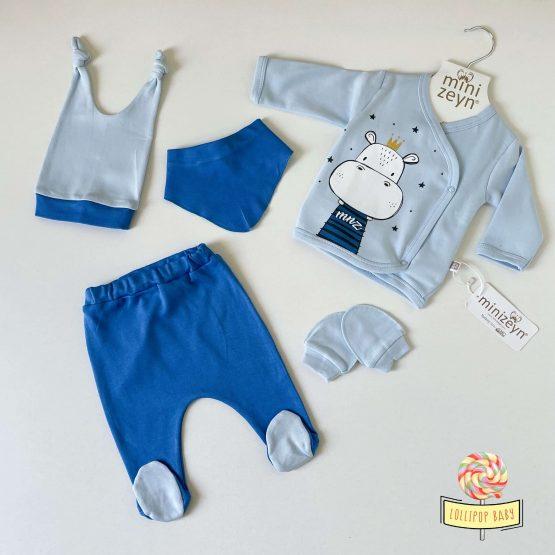 """Set za novorođenče """"Nilski konjić"""" (plavi)"""