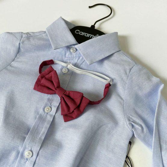 Bodi košulja sa bordo leptir mašnom Caramell