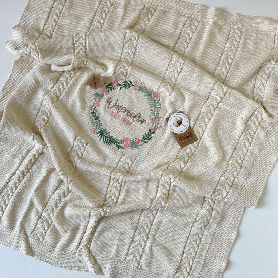 "Knit set za bebe NipperLand ""Floral"""