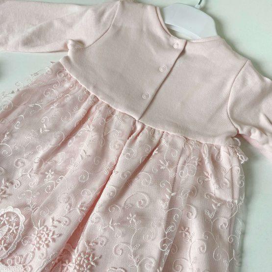 Pamučna svečana haljinica Caramell (roze)