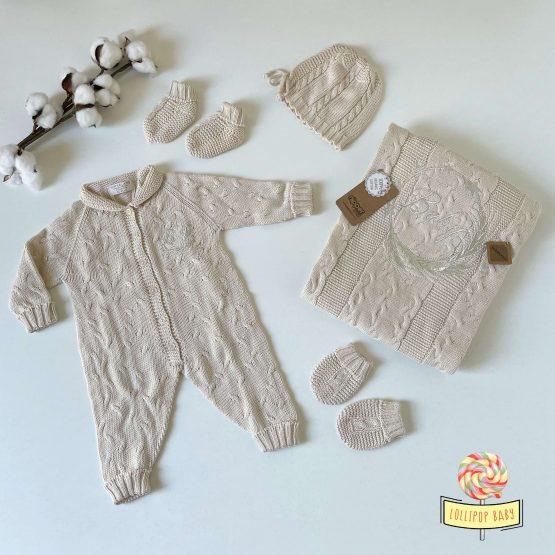 """Knit set za bebe NipperLand """"Baby"""" (bež)"""