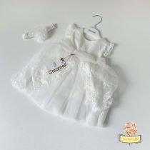 Svečana bela haljinica za devojčice Caramell