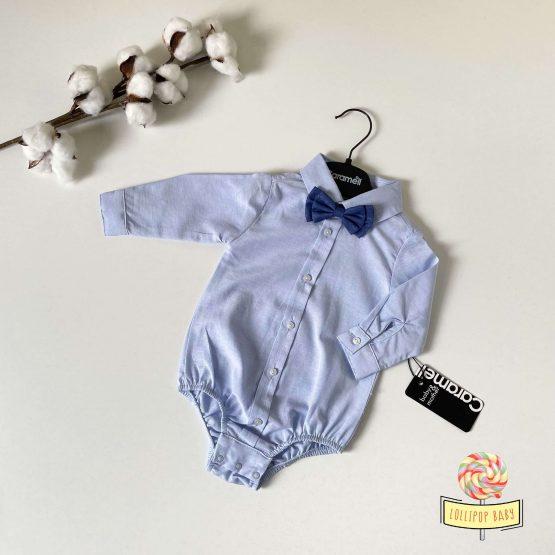 Bodi košulja sa plavom leptir mašnom Caramell